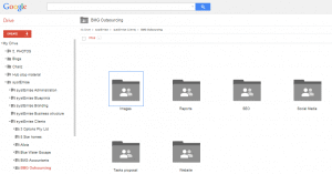 bmg outsourcing google drive