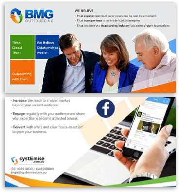 BMG Outsourcing Social Brochures
